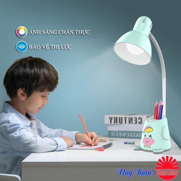 Đèn học để bàn Led bảo vệ thị lực chính hãng Rạng Đông hình thú dễ thương có ống cắm bút, đèn học chất lượng cao Rạng Đông RL-24.V2 LED, Gia dụng Huy Tuấn Hà Nội