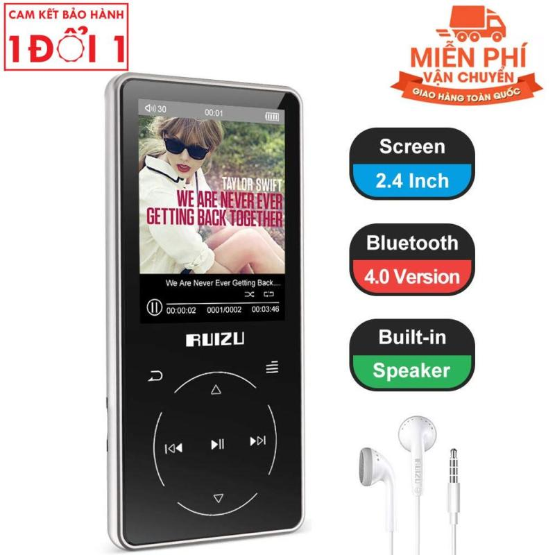 Ruizu D16 - 2019, Máy nghe nhạc Lossless, Bluetooth, Màn hình lớn 2.4 icnh - RUIZU D16 Bluetooth MP3 Player Hifi Sports Flac Music Player With Built-in Speaker Support FM Radio Recording E-Book Pedometer