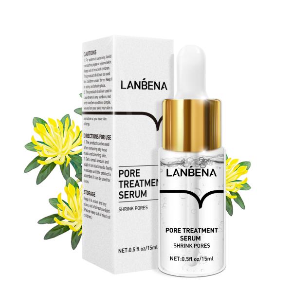 Serum LANBENA thu nhỏ lỗ chân lông kiềm dầu dưỡng ẩm phục hồi chăm sóc da - INTL nhập khẩu