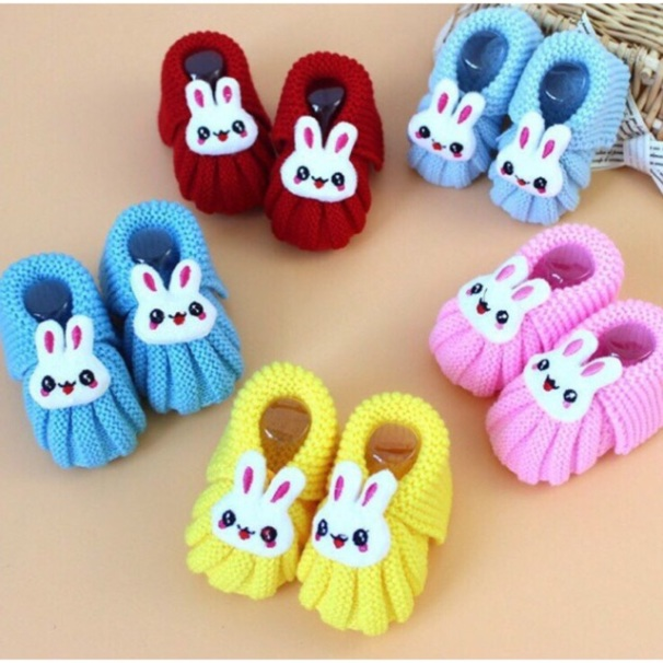 Giày tập đi len mẫu thỏ giá rẻ