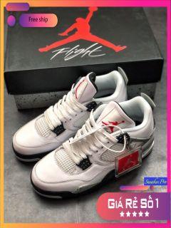 ( FULL BOX) Giày thể thao nam nữ Air Jordan 4 Retro pure money năng động êm ái thumbnail