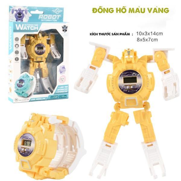 Đồng Hồ Điện Tử Biến Hình Robot Cho Bé, Đồ Chơi Cho Bé