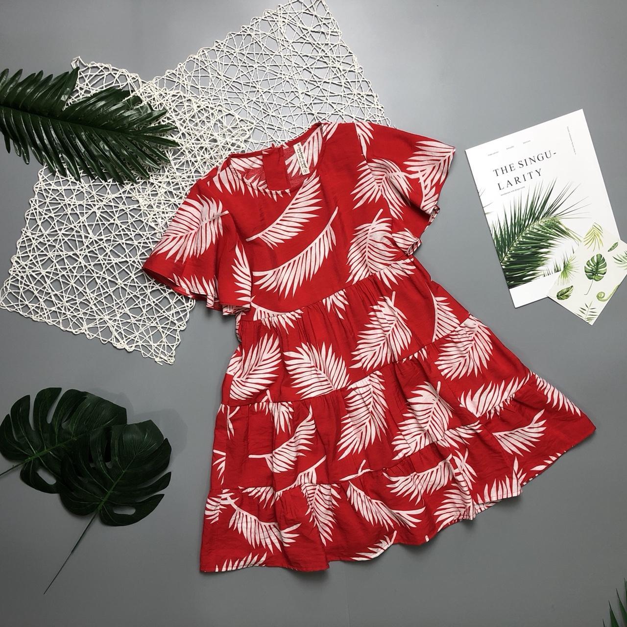 Giá bán Váy đũi hoa đại tay xòe cho bé 7-12 tuổi - hàng thiết kế