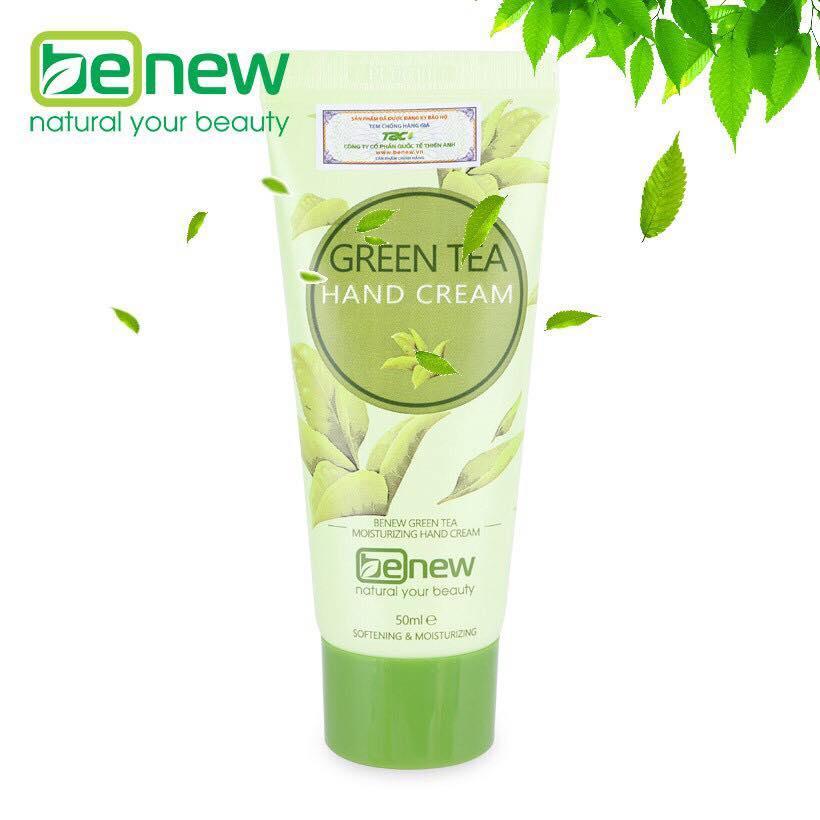 Kem dưỡng da tay trà xanh Benew Green Tea Hand Cream 50ml tốt nhất