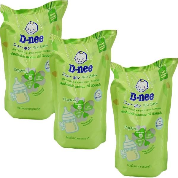 Combo 3 túi nước rửa bình sữa dnee 600ml