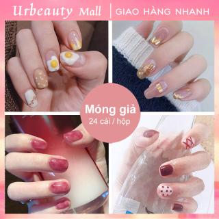 Urbeauty Mall Set 24 móng tay giả cao cấp Năm phong cách chọn móng tay giả nail giả , móng giả A8 ( Sản phẩm đã có sẳn keo ) thumbnail