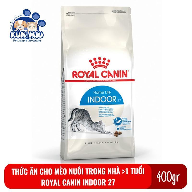 Thức ăn cho mèo nuôi trong nhà, ít vận động Royal canin Indoor 27 400g