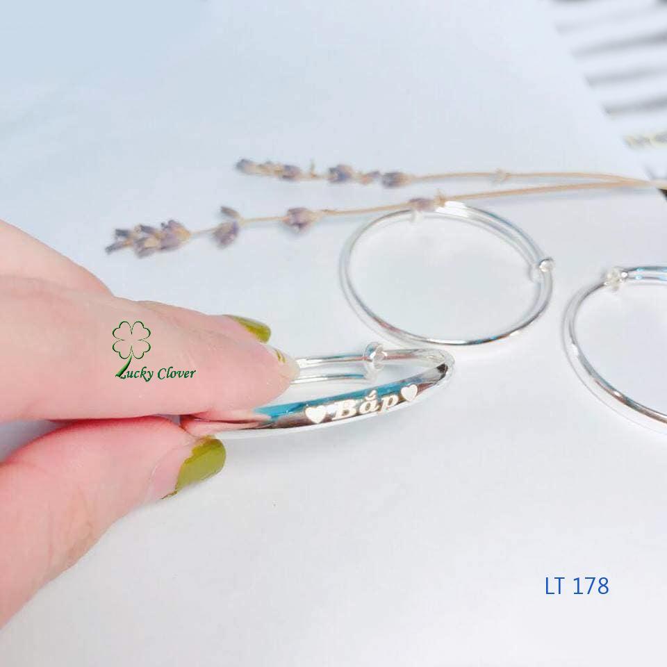 Giá bán Lắc tay, Lắc chân bạc ta cho bé LT178. Khắc theo yêu cầu