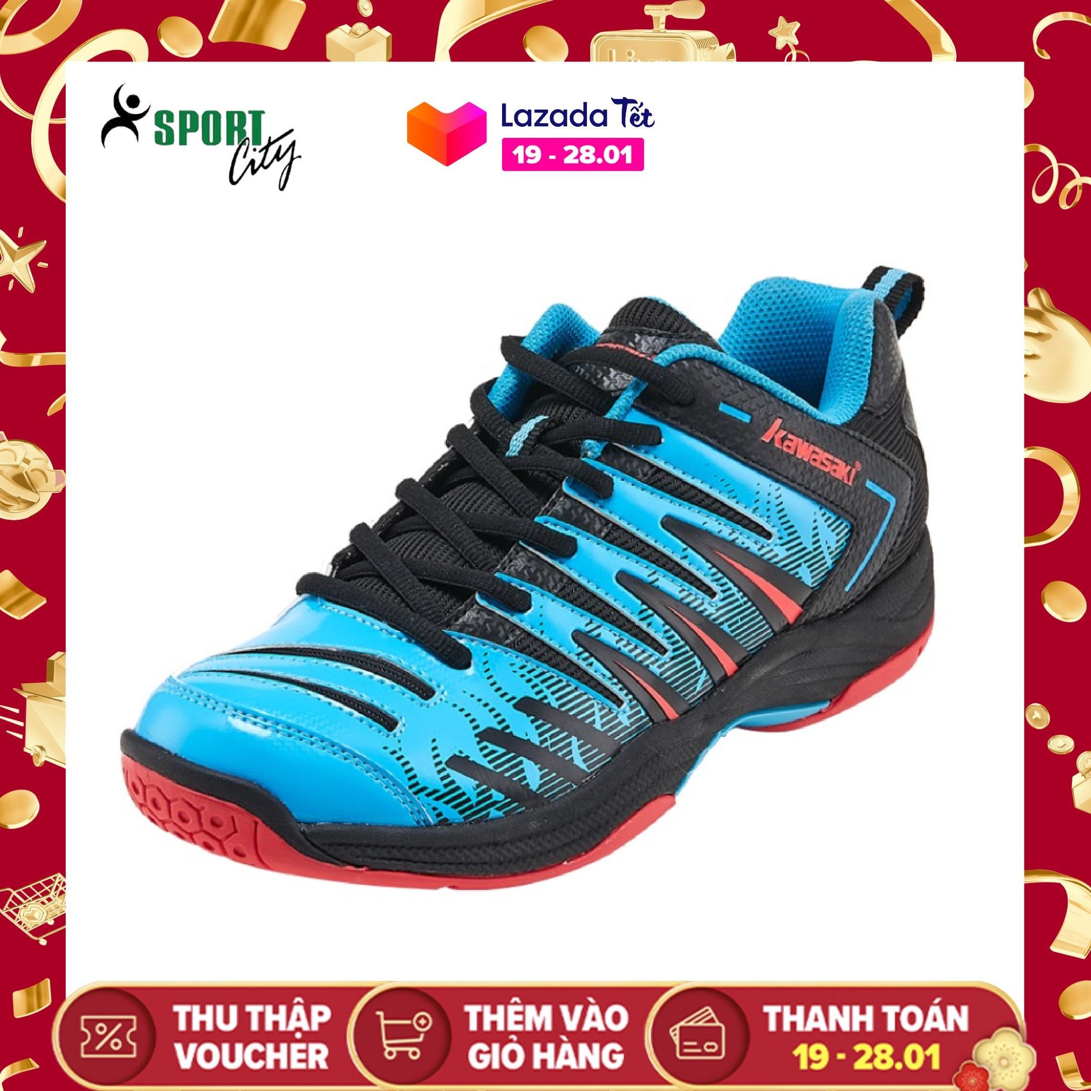 Giày cầu lông - Giày bóng chuyền Kawasaki K161 mẫu mới, êm ái, chống lật cổ chân, có 2 màu lựa chọn, dành cho nam và nữ - Giày chơi cầu lông nam nữ- Giầy thể thao chơi bóng chuyền - Sportcity