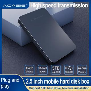 ACASIS FA-07US USB 3.0 to SATA External HDD case for 2.5 inch SSD HDD Enclosure Mobile hard disk Box Slim Easy to Carry support 5TB 5Gbps thumbnail