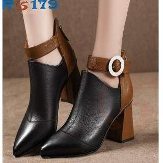 Giày boot bốt nữ đẹp hàng hiệu Rosata-quai hậu RO179