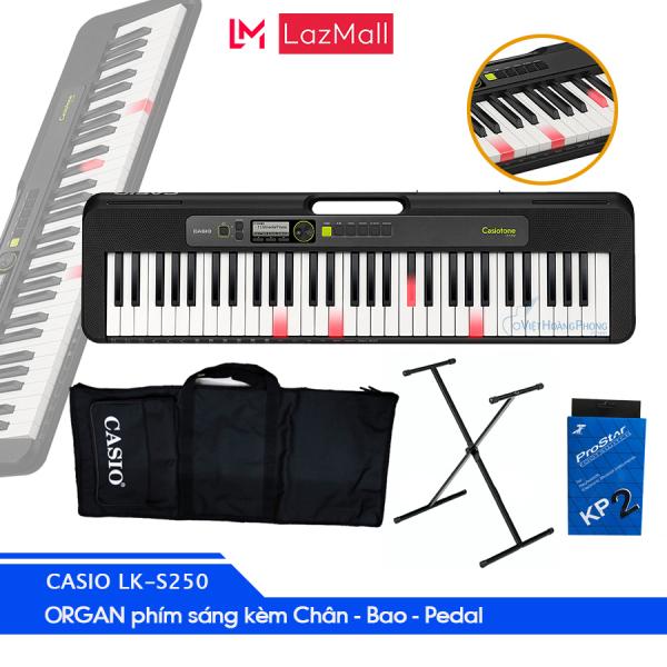 Đàn Organ Casio phím sáng LK-S250 Model Casiotone mới 2020- Đàn+AD+Chân+Bao+Pedal