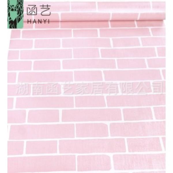 Giấy dán tường gạch hồng 0.45*10m