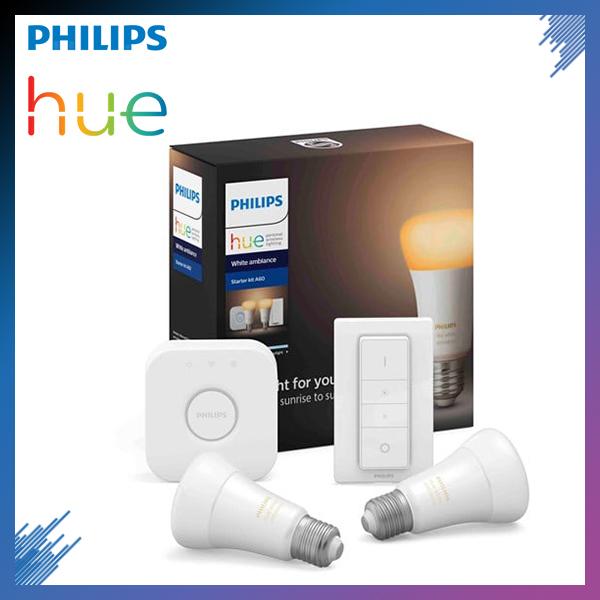 Bộ 2 Bóng Đèn Philips Hue White Ambiance Starter Kit E27 [Có sẵn Bridge, Dimmer] | Ánh sáng trắng vàng | Bảo hành 2 Năm