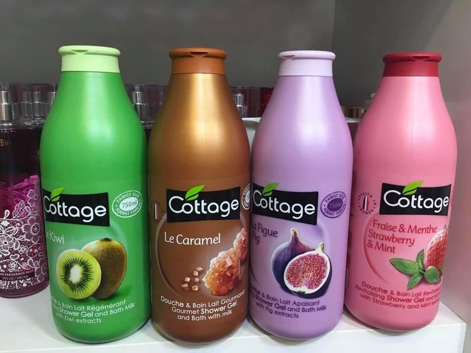 Sữa tắm cottage 750ml 4 mùi cao cấp