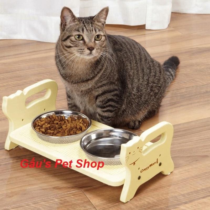 Bàn ăn gỗ cho mèo CattyMan - 93336