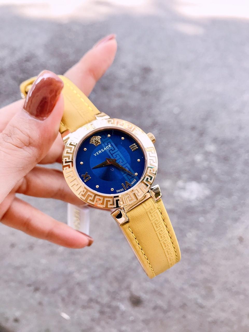 Đồng Hồ Thời Trang Nữ Versace_Daphnis - Dây Da Cao Cấp - Size 36 mm - FULLBOX bán chạy