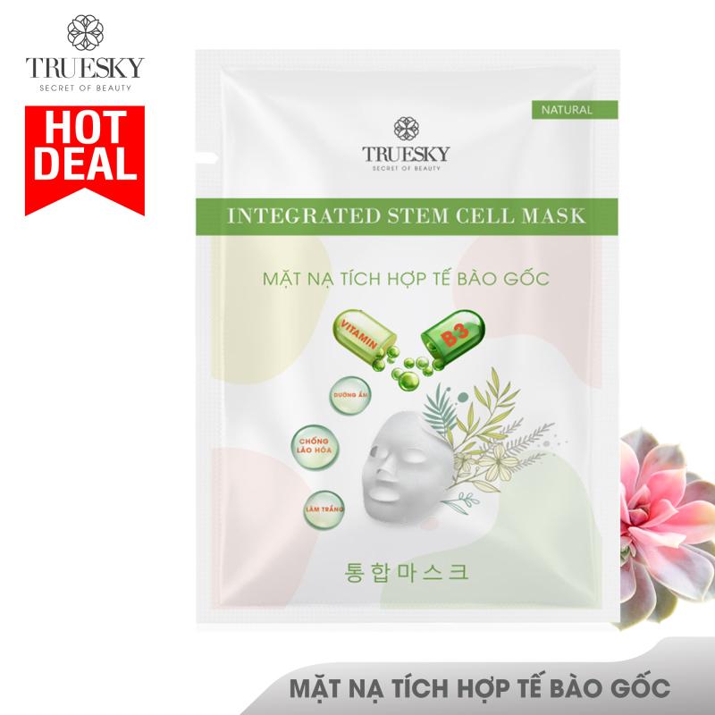 Mặt nạ giấy tích hợp tế bào gốc Truesky giúp làm sáng da, dưỡng ẩm và ngăn ngừa lão hoá - Integrated Steam Cell Mask