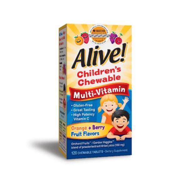 Vitamin Tổng Hợp Trẻ Em Alive Childrens Chewable Multi-Vitamin 120 Viên