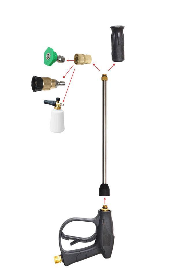 Vòi xịt áp lực cao mỏ vịt ren ngoài 22mm dài 59 cm