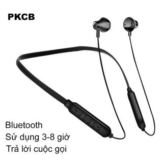 Tai Nghe Bluetooth Wireless Thể Thao Âm Thanh Chân Thực Sống Động Cao Cấp PKCB171 ĐEN Chính Hãng thumbnail