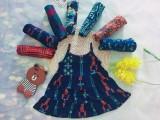 01 Váy cotton 2 dây cho bé gái 3 tuổi 12-14kg size 3 ( Mầu sắc bất kỳ)