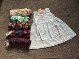 01 Váy cotton ba lỗ đính cúc cho bé gái 5 tuổi 16-18kg size 5 ( Mầu sắc bất kỳ)