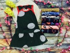 01 Váy cotton xẻ lưng cho bé gái 3 tuổi 12-14kg size 3 ( Mầu sắc bất kỳ)