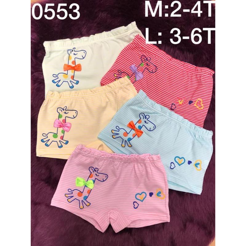 Nơi bán 03 quần lót đùi hươu kẻ bé gái cao cấp (2-10T)  NK Quảng Châu