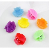 10pcs Cute Kids Hair Claws Baby Hair Accessories Princess Hair Clips Barrette Small Shell - intl