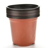 10pcs Mini Plastic Round Flower Pot Terracotta Nursery Planter Home Garden Decor - intl