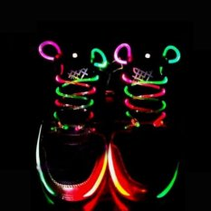 Hình ảnh 1Pair Cool Goods Funny Toys Gift Creative Light Up LED Shoelaces Flash Party Disco Shoe Laces Shoe Strings - intl