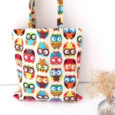 1X NEW Owl Womens Canvas Capacity Handbag Shopping Shoulder Bag Shopper Tote - intl