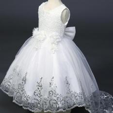 2017 Bé Gái Ren Tutu Đầm Công Chúa Hoa Cuộc Thi Đầm Dạ Hội Dự Tiệc Cưới 3-10y-quốc tế