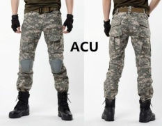 Bán 2017 Hot Sale Cargo Pants Camouflage Tactical Army Pants Combat Multicam Militar Tactical Pants With Knee Padss Light Blue Intl Rẻ Nhất