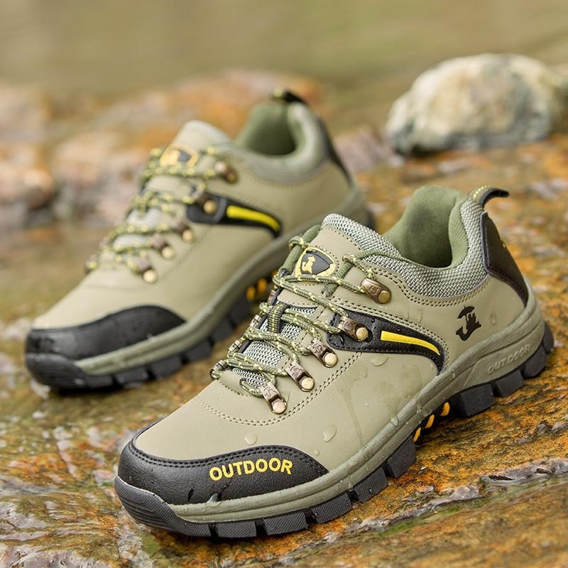 2017 men Hiking Boots Uneebtex Waterproof Outdoor Hiking Shoes Climbing Sport Sneakers for men(green) - intl