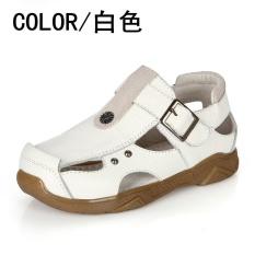 Hình ảnh 2017 Mới Thời Trang Mùa Hè Giày Sandal Trẻ Em Bé Trai và Bé Gái Giày Xăng Da Thật Chính Hãng Da Giày Cho Bé (EU SIZE 21- 37/trắng) -quốc tế