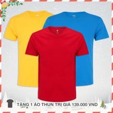 Giá Bán 3 Tặng 1 Ao Thun Nam Cao Cấp Ao Thun Nam Hang Hiệu Đẹp Mau Đỏ Xanh Vang Mới Rẻ