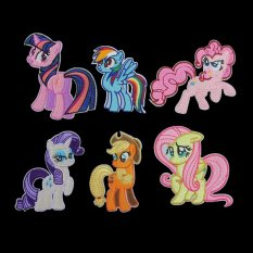 Ôn Tập Trên 6X Little Pony Fabric Embroidered Iron On Patch Motif Applique Embroidery Lovely Intl
