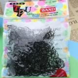 Adjustable Elastic Girl Rubber Hair Ties Bands Rope for Girl Kid Black - intl