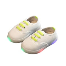 Hình ảnh Amart Children Light Shoes For Girls Baby Canvas Sneakers LED Sneaker Kids Shoes - intl
