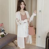 Giá Bán Thời Trang Amart Cho Nữ Ao Khoac Kimono Voan Theu Hoa Tay Loe Mua He Dai Mua Xuan Cổ Tim Trắng Quốc Tế Amart Tốt Nhất