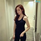 Mua Ao 2 Day Nữ Han Quốc Năng Động Xinh Đẹp Fashion C612 Đen Trực Tuyến Rẻ