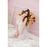 Áo đầm ngủ sexy Von Lưới CDAN01 Kim Phát (trắng)
