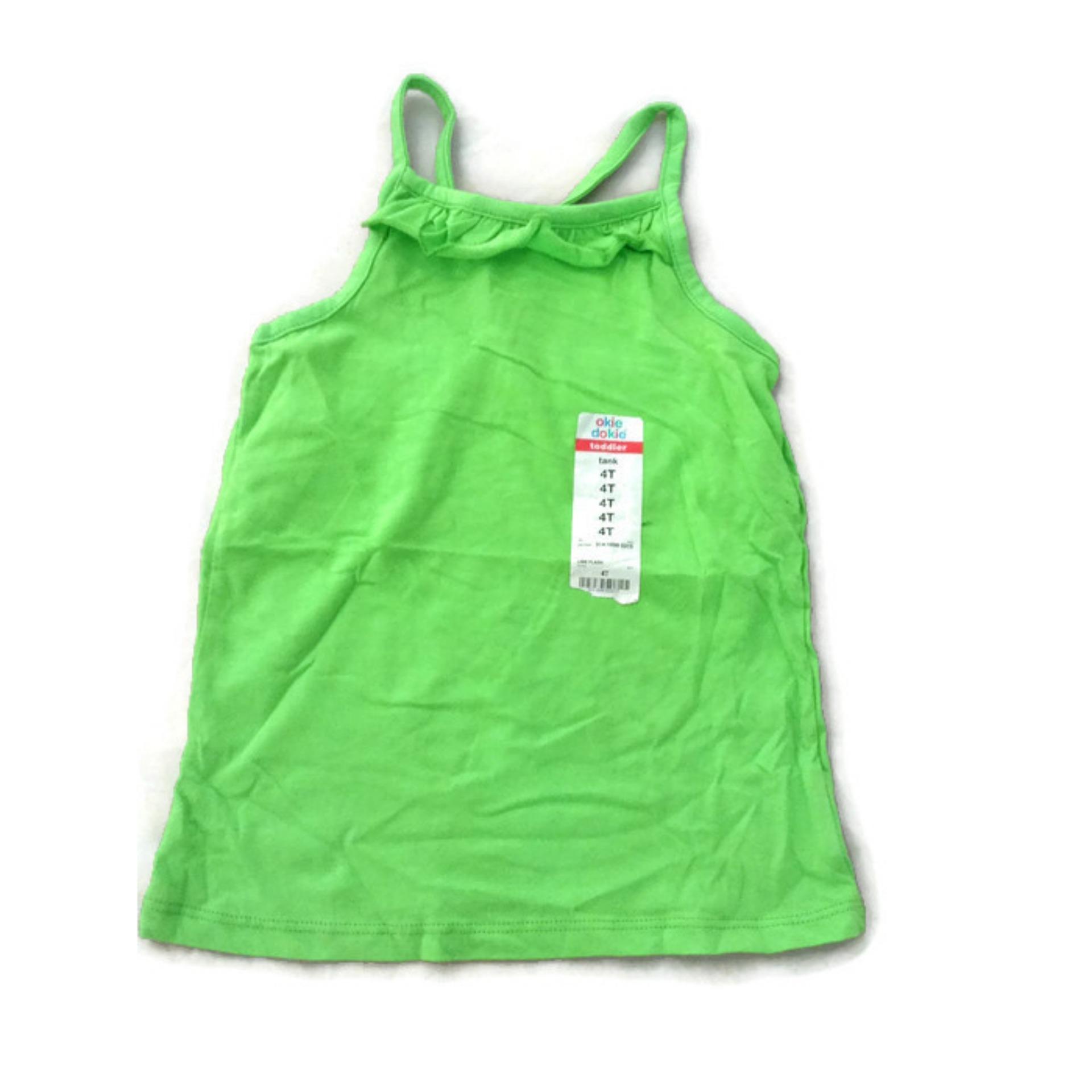 Áo Hai Dây Bé Gái Màu Xanh Hiệu Okie Dokie Size 4T