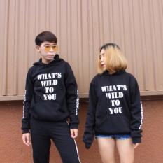 Hình ảnh Áo khoác cặp (2 cái) nam nữ WHAT'S WILD TO YOU nỉ cao cấp