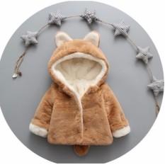 Áo khoác lông đuôi chồn cho bé 6 tháng đến 3 tuổi kèm ảnh thật cuối
