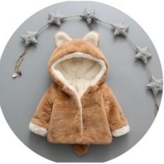 Hình ảnh Áo khoác lông đuôi chồn mềm mịn cho bé từ 6 tháng đến 3 tuổi