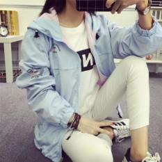 Hình ảnh áo khoác nữ hai mặt GMKj382(XANH - HỒNG NHẠC)