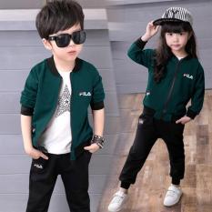 Hình ảnh Áo Khoác Trẻ Em Kaki 3680(xanh bích)